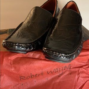 Black patent shoes, by Robert Wayne